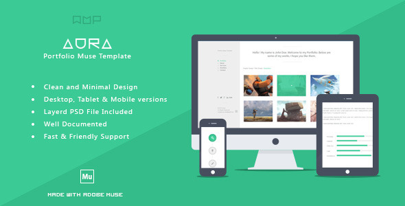 ThemeForest Aura Portfolio Muse Template 6692145