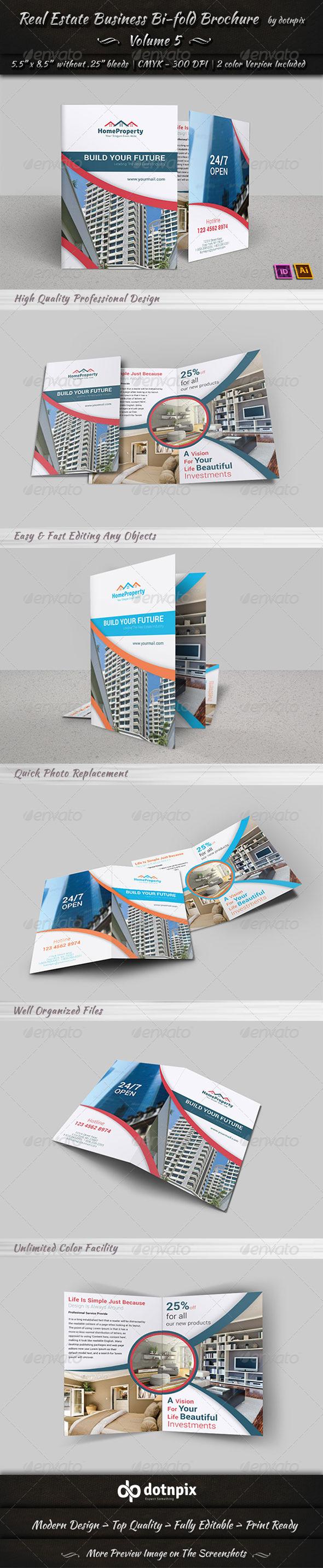 GraphicRiver Real Estate Business Bi-Fold Brochure Volume 5 6692195