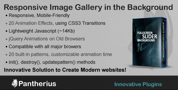 CodeCanyon FullScreen Background Slider jQuery SlideShow 6692226