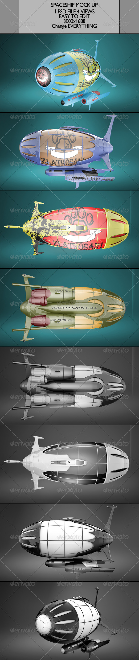 GraphicRiver Spaceship Mock Up 6692359