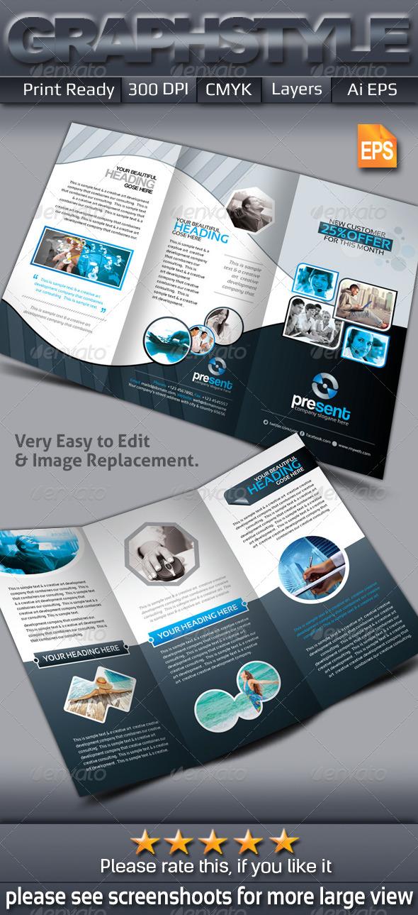 GraphicRiver Present Tri-fold Corporate Business Brochure 6692556