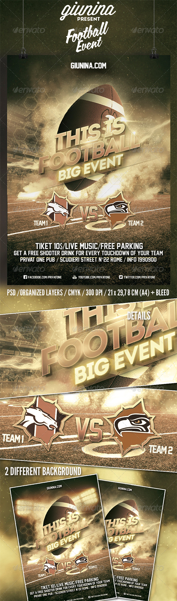 GraphicRiver Football Event Flyer Poster 6693263