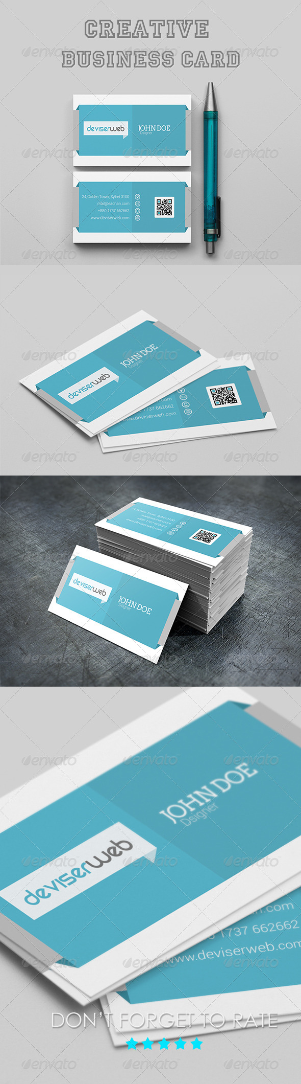 GraphicRiver Creative Agency Business Card Template 6693302