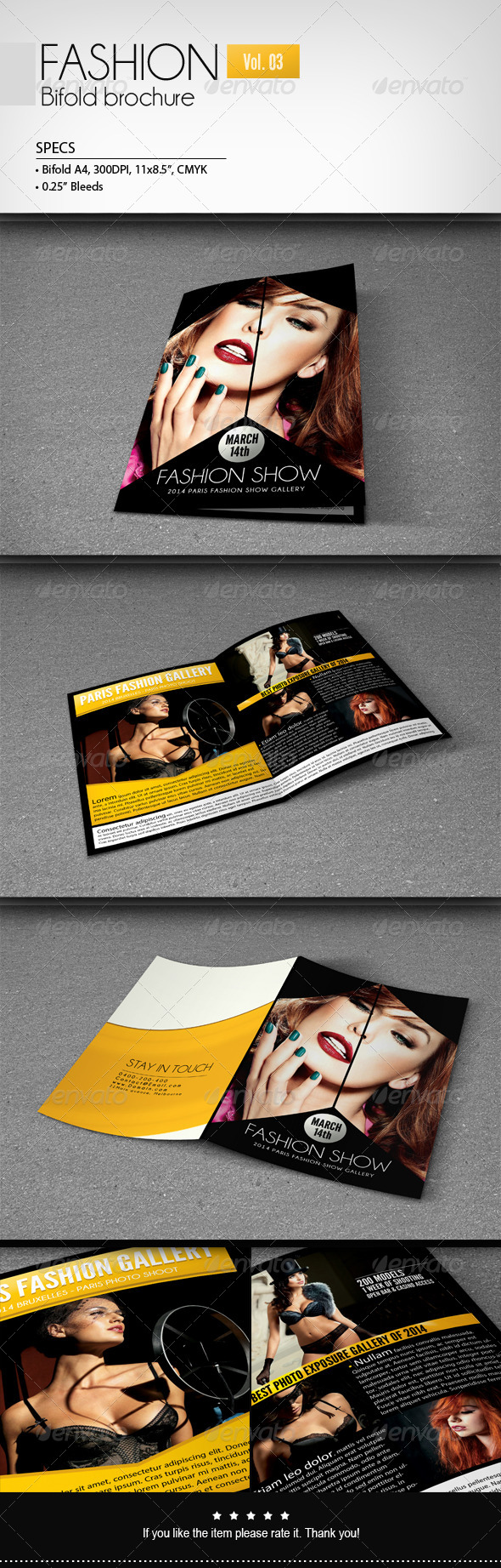 GraphicRiver Fashion Bifold Brochure [Vol.3] 6693346