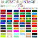 Vintage And Retro Gradients And Vector Swatches Se - GraphicRiver Item for Sale