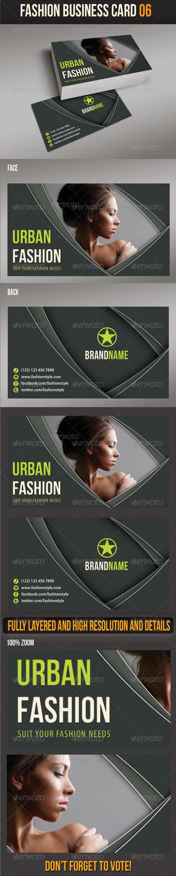 GraphicRiver Fashion Business Card 06 6693428