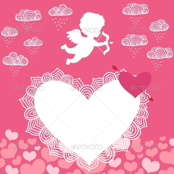 GraphicRiver Valentines Day Angel with Bow Flyer 6693491