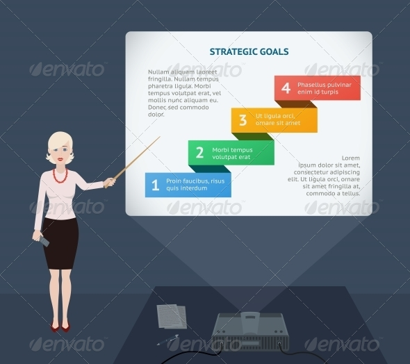 GraphicRiver Business Woman Presenting Annual Report 6693746