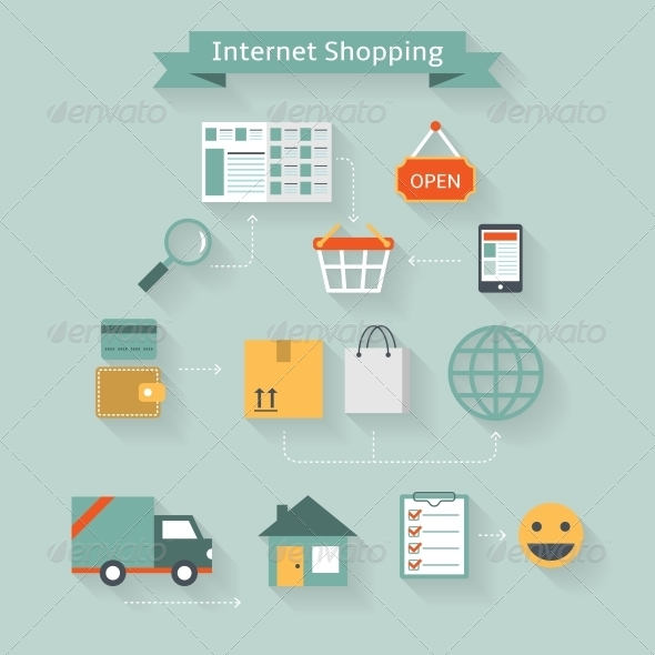 GraphicRiver Internet Shopping Concept 6693748