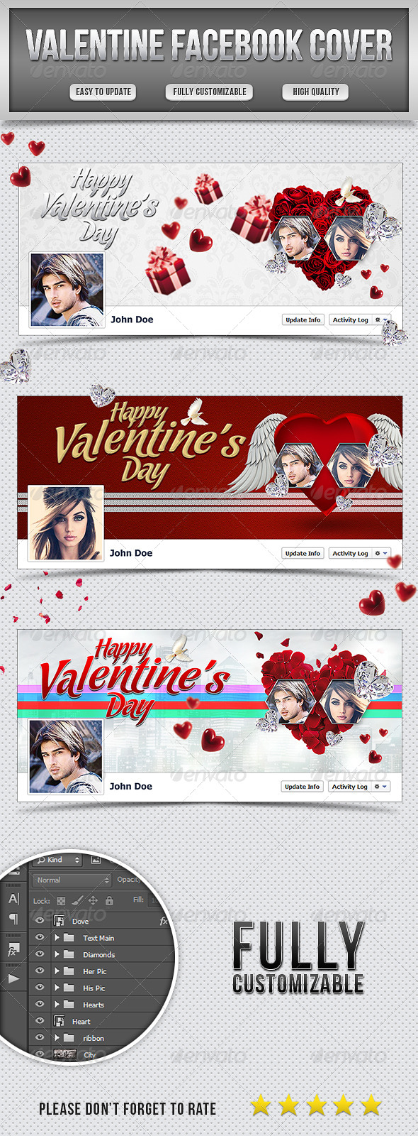 GraphicRiver Valentine Facebook Cover 6693933