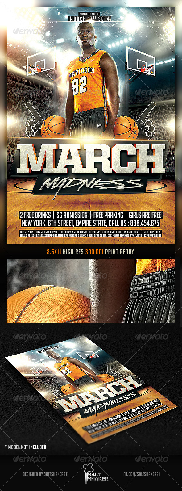 GraphicRiver Basketball March Madness Flyer 6694140