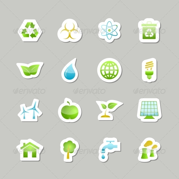 GraphicRiver Eco Green Icons Set 6694146