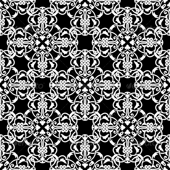 GraphicRiver Seamless Black and White Pattern 6694193