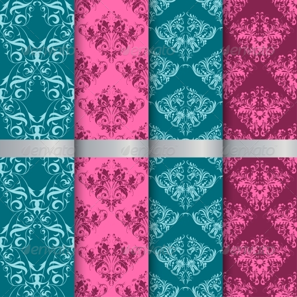 GraphicRiver Set Filigree Damask Seamless Patterns 6694571
