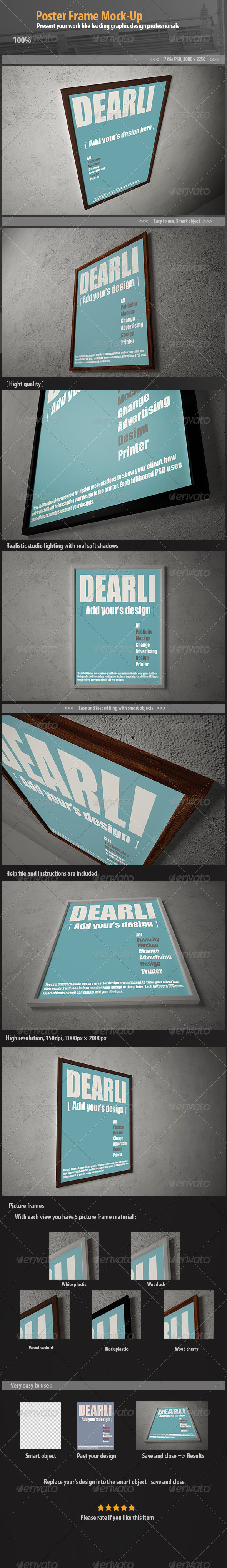 GraphicRiver Poster Frame Mock-Up 6694680