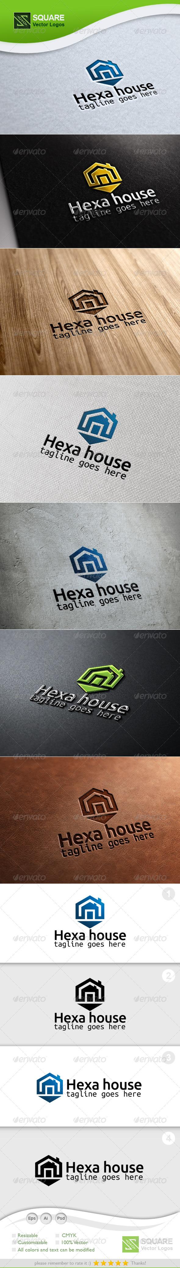 GraphicRiver Hexagon House Vector Logo Template 6694695