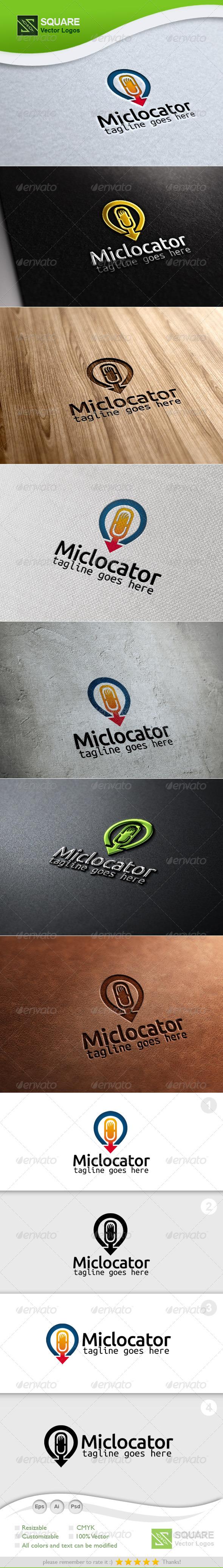 GraphicRiver Mic Locator Vector Logo Template 6694724
