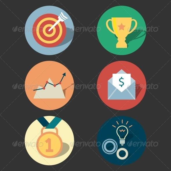 GraphicRiver Success Concept Icons Set 6695521