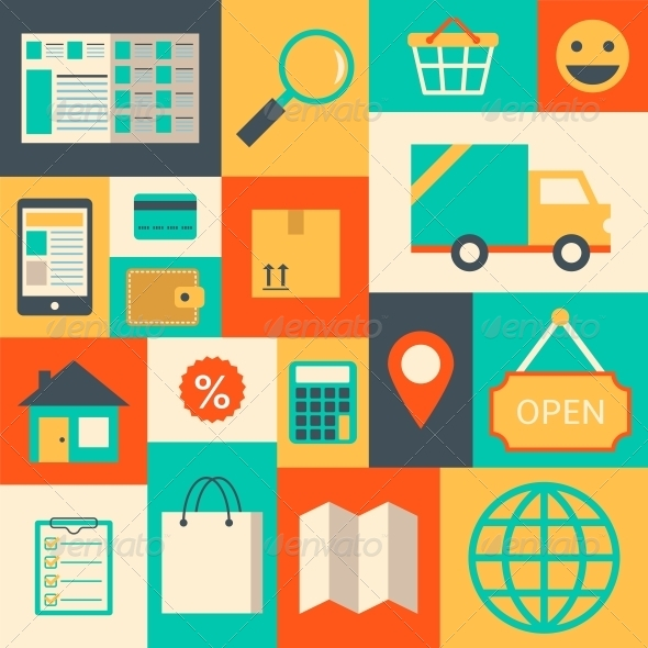 GraphicRiver Design Elements for Online Supermarket 6695532