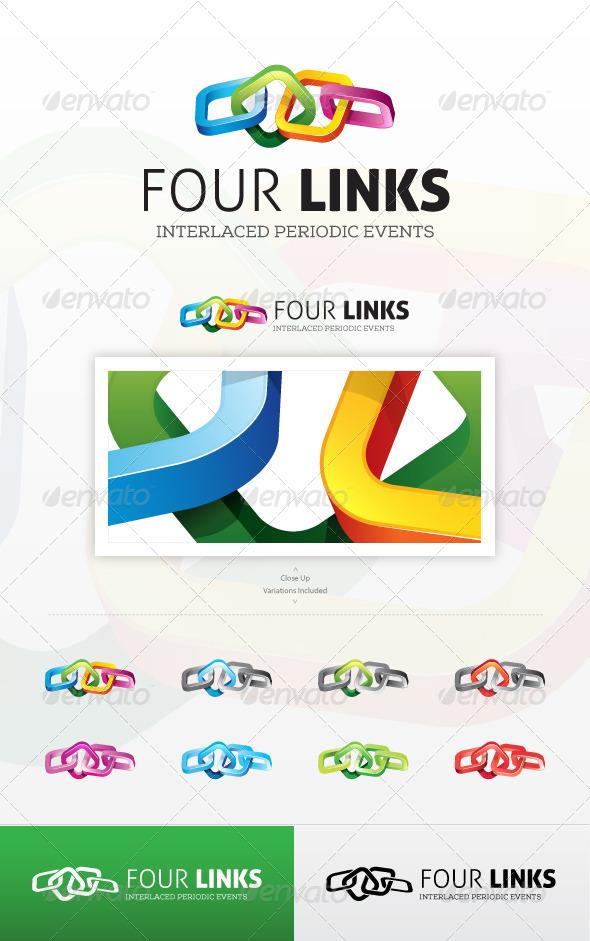 GraphicRiver Four Links Logo 6696084