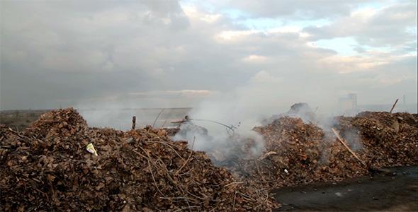 Burning Garbage Dump Ecological Pollution 1