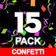 15 Confetti Pack - VideoHive Item for Sale
