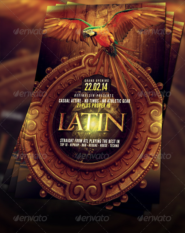 GraphicRiver Latin Party Flyer Template 6696562