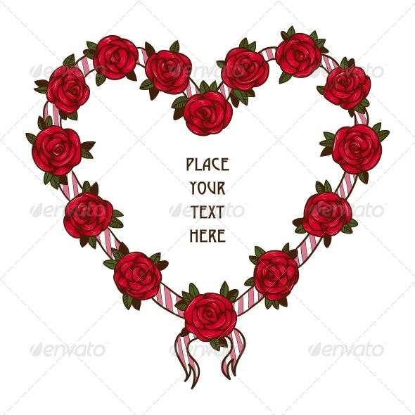 GraphicRiver Rose Frame 6696856
