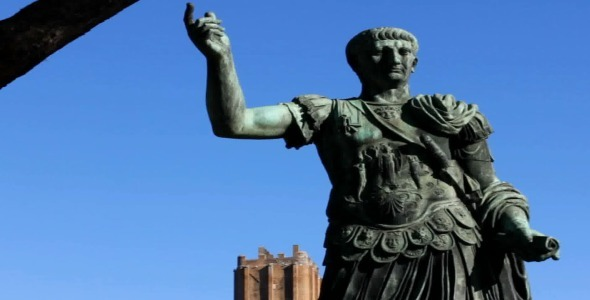 Trajan s Statue in Rome Long Shot