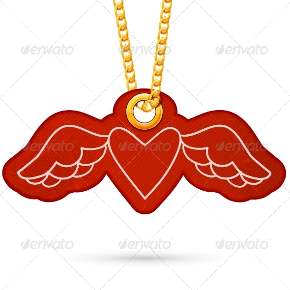 GraphicRiver Heart with Wings 6696926