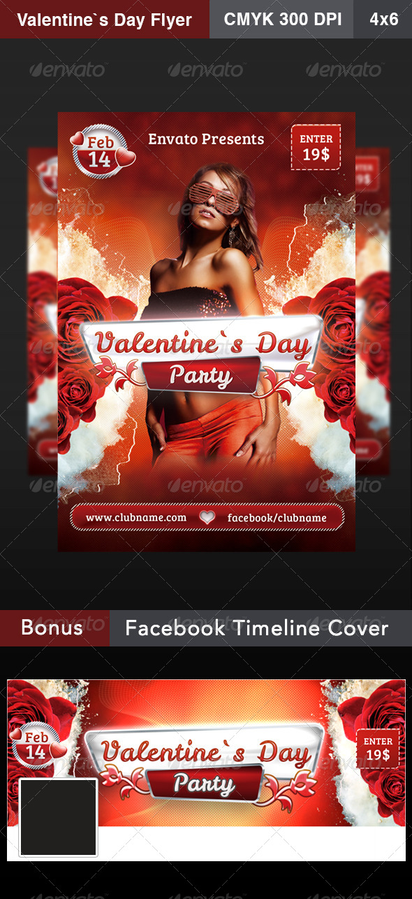 GraphicRiver Valentines Day Flyer 6696956