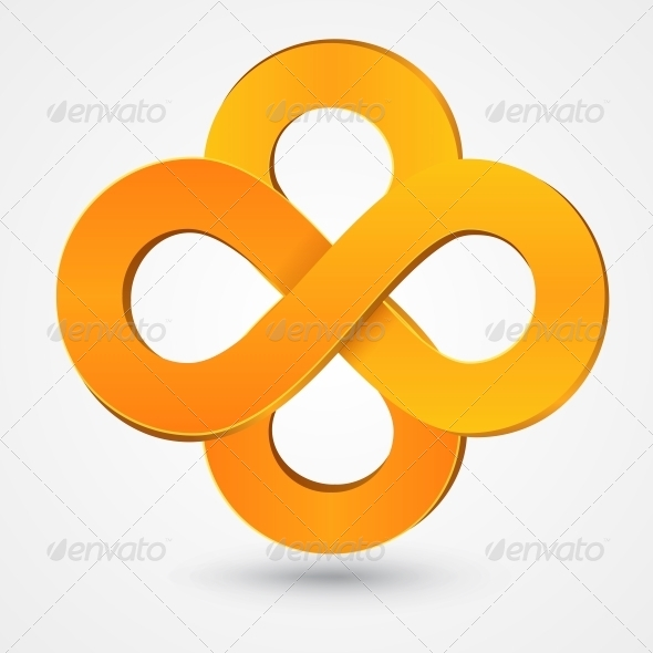 GraphicRiver Abstract Double Infinity Orange Sign 6696999