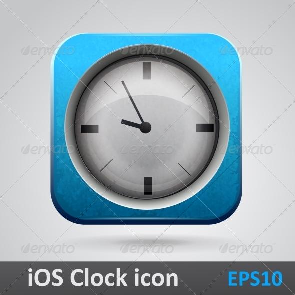 GraphicRiver Clock Glossy Icon 6697027