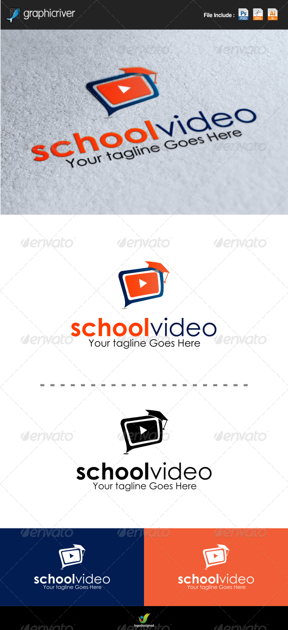 School Video Logo Template