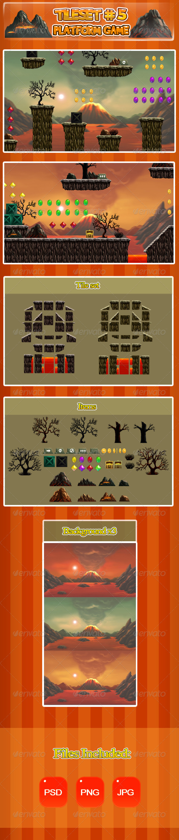 GraphicRiver 2D Tileset Platform Game 5 6697038