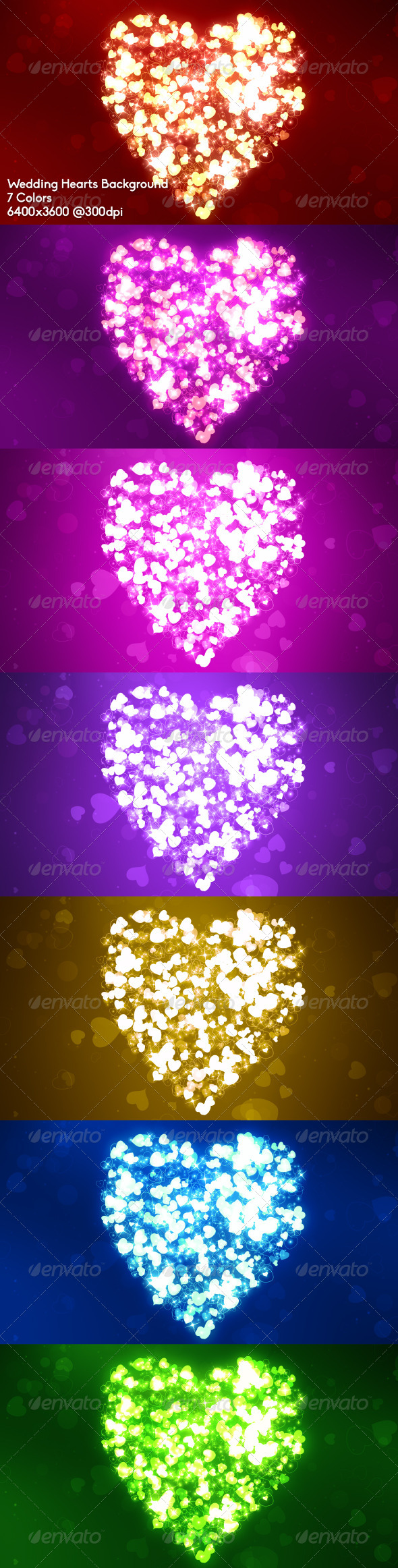 GraphicRiver Wedding Hearts Background 6697045