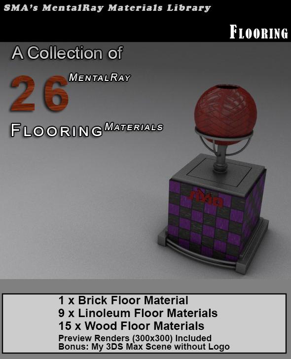 26 Flooring Materials (Mental Ray) - 3DOcean Item for Sale