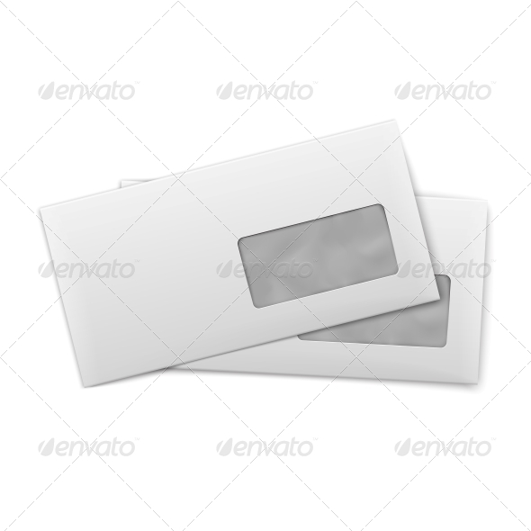 GraphicRiver Blank Envelopes with Window 6697404