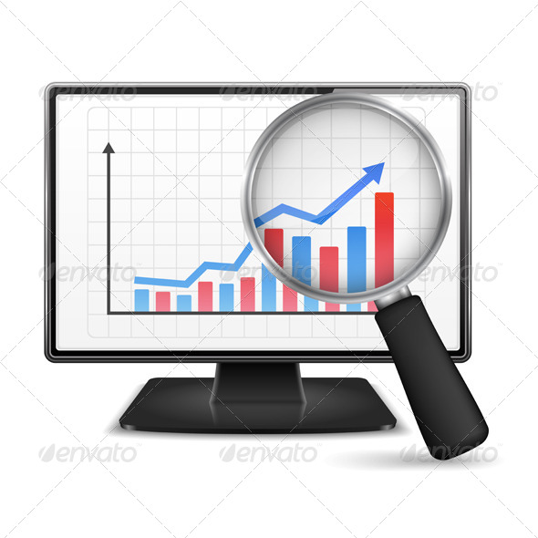 GraphicRiver Computer Monitor with Graph 6697427