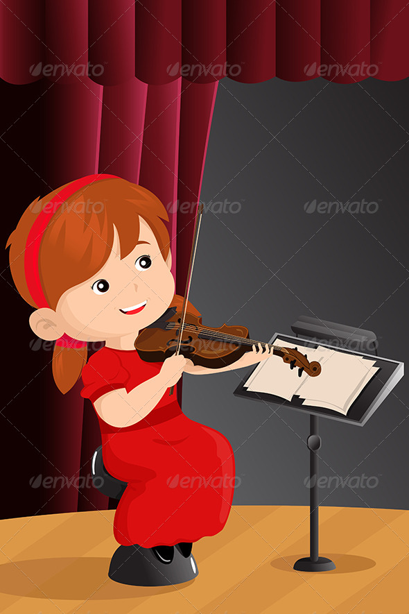 GraphicRiver Girl Playing Violin 6698674