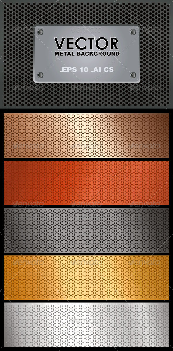 GraphicRiver Vector Metal Background 6698804