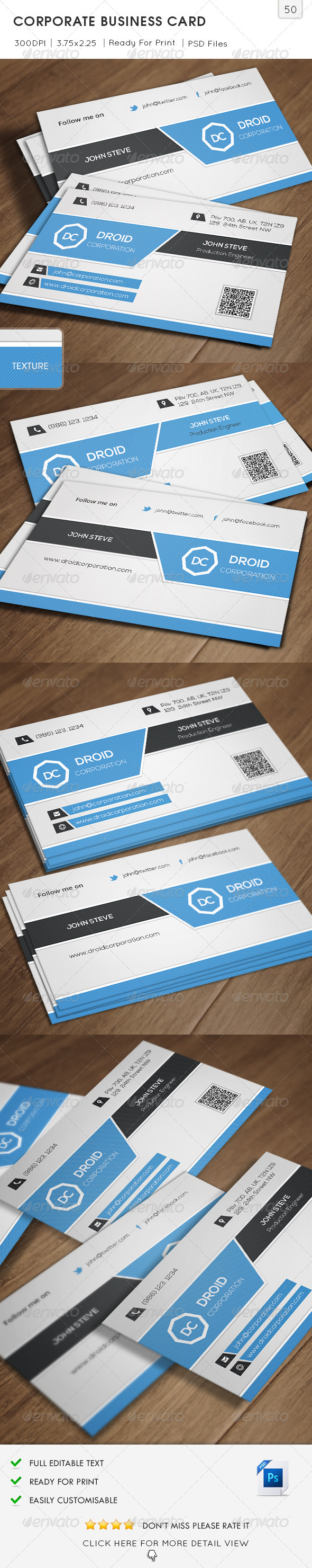 GraphicRiver Corporation Business Card v50 6698987