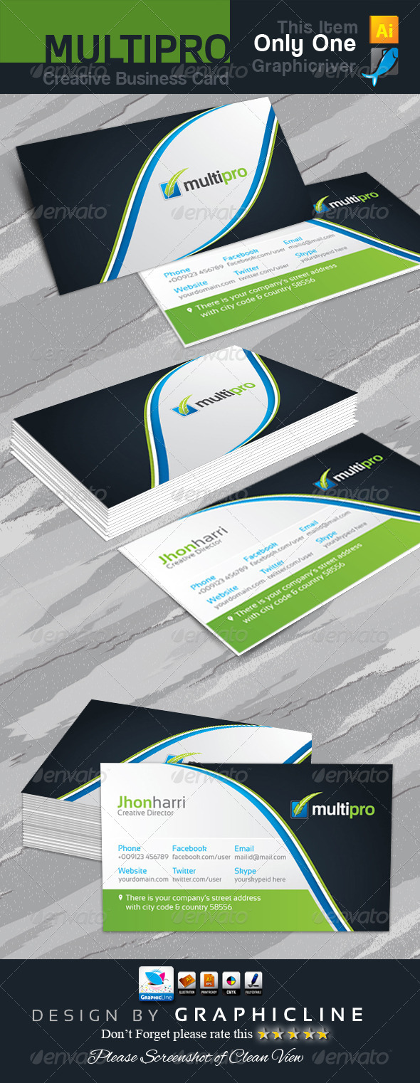 GraphicRiver Multi Pro Creative Business Card 6682901
