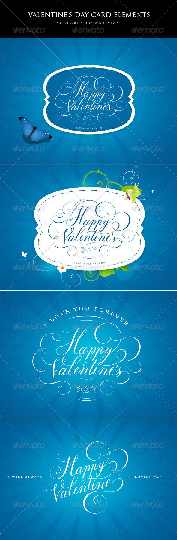 Valentines Day Design Elements