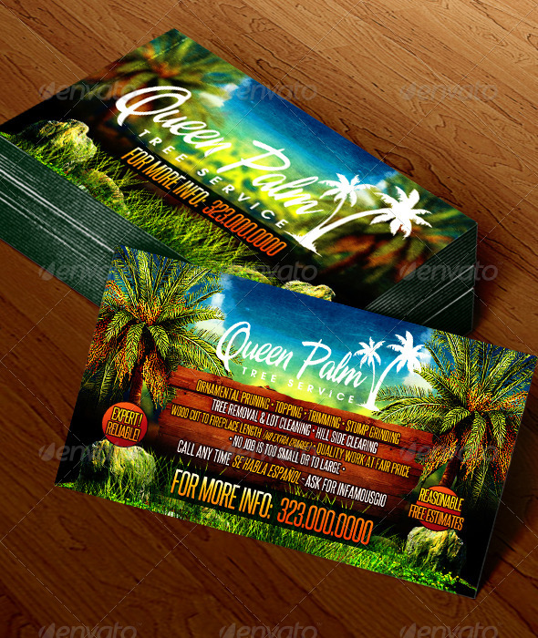 GraphicRiver Gardening Business Card 1 6684299