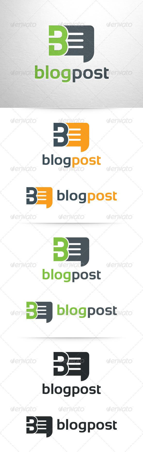 GraphicRiver Blogpost Letter B Logo 6699554