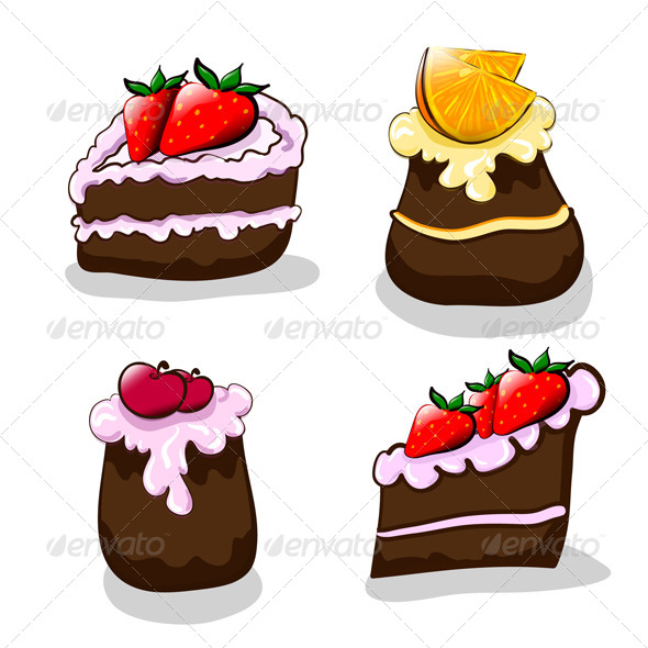 GraphicRiver Cartoon Cakes 6699555