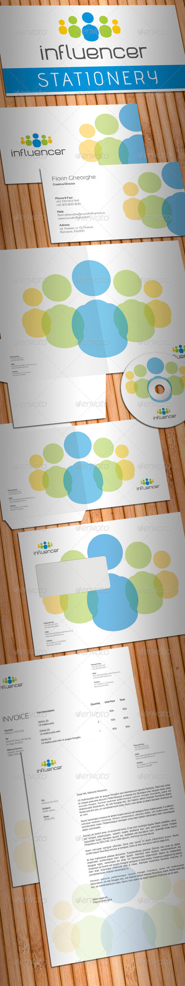GraphicRiver Social Media Influencer Stationery 701920