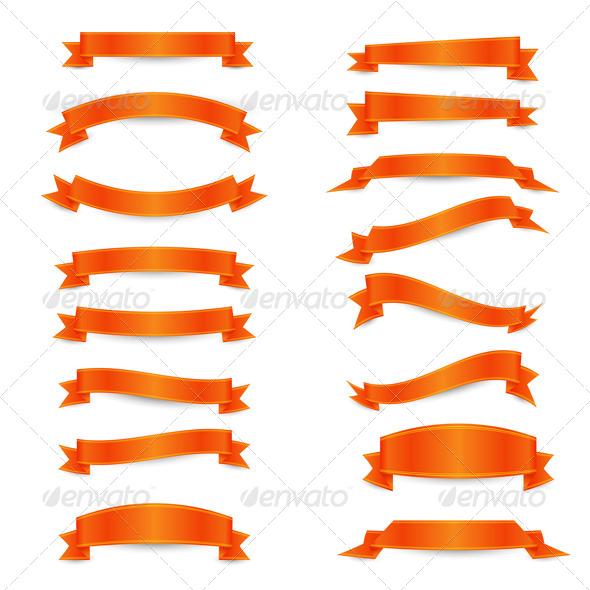 GraphicRiver Orange Ribbons 6699938