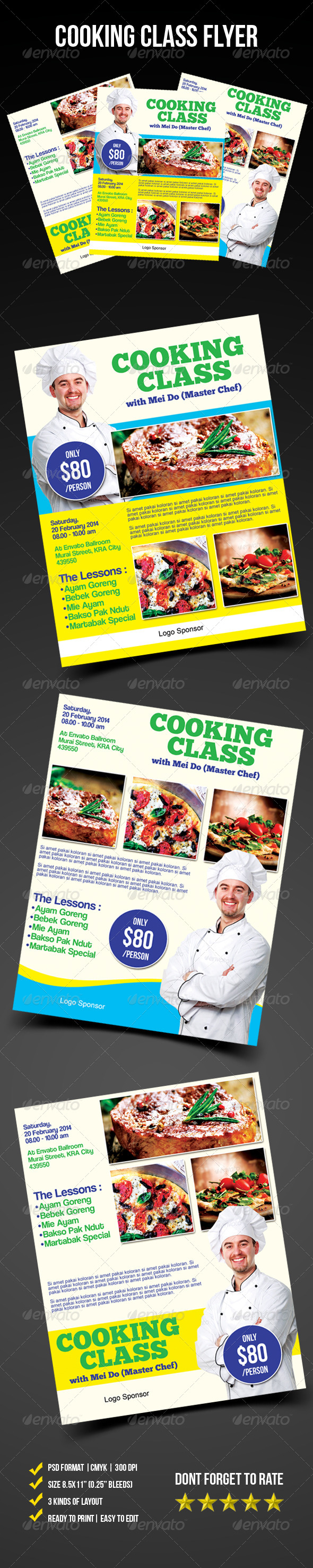 GraphicRiver Cooking Class Flyer 6684479